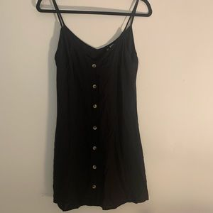 H&M Black Button Down Sleeveless Dress Size 6